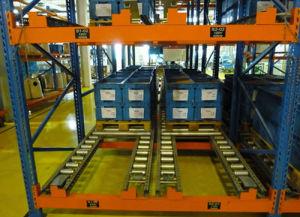 Gravity Warehosue Storage Live Pallet Steel Shelves pictures & photos