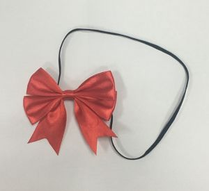 Red Elastic Belt Christmas Gift Ribbon Bow pictures & photos