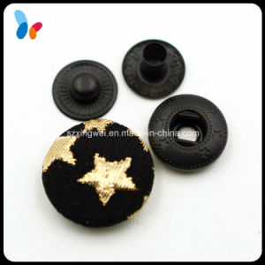 Printing Fabric Covered Metal Spring Snap Button pictures & photos
