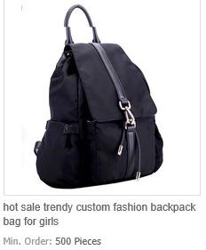 Trendy Custom Fashion Backpack Bag for Girls
