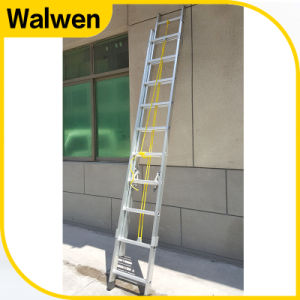 Top Safe Thicken Aluminum Multi-Purpose Extension Rope Ladder pictures & photos