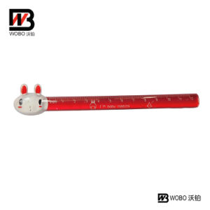 Colorful Animal Flat Plastic Ruler for Office Stationery