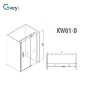 Extension Shower Screen /Adjustable Bathroom Door (KW01D) pictures & photos