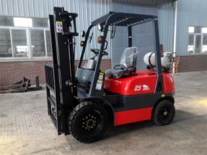 3.0t Gasoline-LPG Duel Fuel Forklift Truck with CE pictures & photos