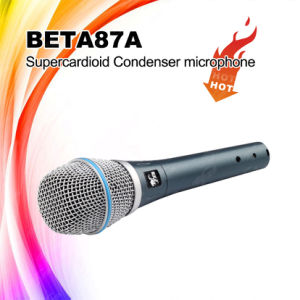 Supercardioid Polar Pattern Beta87A Condenser Wired Microphone pictures & photos