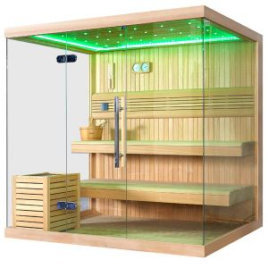 Monalisa Luxury 3 Side Glass Sexy Dry Sauna Room (M-6041) pictures & photos
