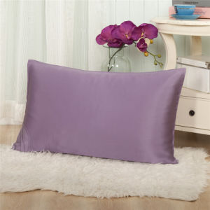 Suzhou Thxsilk Purple Color Plain Dyed Silk Pillowcase pictures & photos