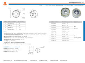 The Middle Hole Design of Large Torque Rotary Damper pictures & photos