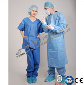 Nonwoven Disposable Scrub Suits, Medical Scrub Suits, Patient Scrub Suits pictures & photos