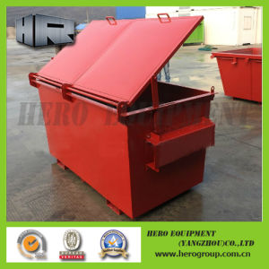 Front Rear Side Load Containers with Casters Lids pictures & photos