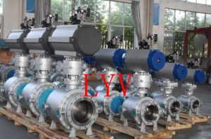 Pneumatic Welded End Trunion Ball Valve pictures & photos