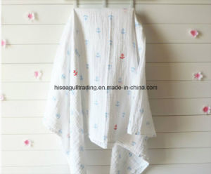 "Checked Cotton Muslin Blanket Swaddle 47X47"" in Different Print. pictures & photos"