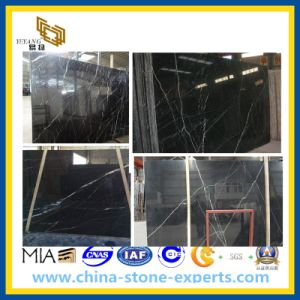 Nero Black Maquina Marble Slab for Floor and Wall pictures & photos