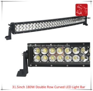 LED Car Light of 31.5 Inch 180W Double Row Curved LED Light Bar Waterproof for SUV Car LED off Road Light and LED Driving Light pictures & photos
