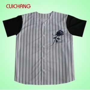 Sublimation 100% Polyester Baseball Jersey pictures & photos