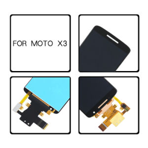 Cheap Transparent Mobile Phone LCD Screen Wholesale Sales for Motorola X3 pictures & photos