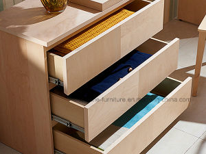 Modern Wooden Stretchable Computer Table with Chest of Drawers and Bookcase (N701-1.8A) pictures & photos