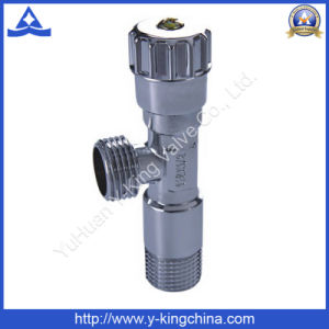 Chrome Plated Brass Angle Valve with Plastic Handle (YD-5013) pictures & photos