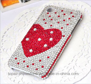 2016 Crystal Epoxy Sticker Mobile Phone Crystal Stickers (TS-511 red heart) pictures & photos