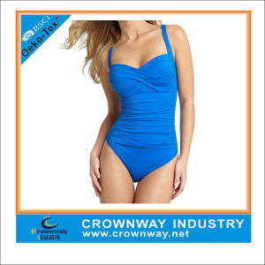 Women Sex One Piece Swimming Wear Plus Size pictures & photos