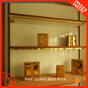 Hot Stamp Wooden Signage Display Stand for Shop pictures & photos
