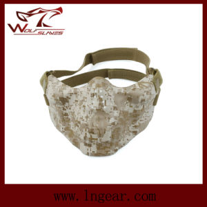 Military Airsoft Rubber Skull Mask Tactical Half Mask pictures & photos