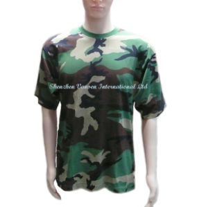 Wholesale Unisex Camo T Shirt with Crew Neck pictures & photos
