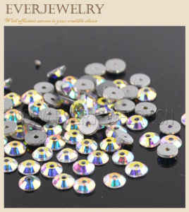 Flat Back Rhinestone with Hole pictures & photos