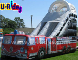 Inflatable Fire Truck Slide for Children pictures & photos