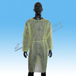 Disposable PE/PP+PE/CPE/SMS/PP Surgical Gown/Isolation Gown for Lab Workers pictures & photos
