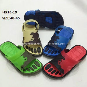 Men Casual Summer Beach Slipper Outdoor Slipper PVC Slipper Sandal (HX16-19) pictures & photos
