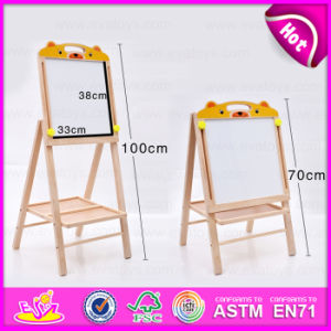 Good Quality Wooden Painting Board Stand for Kids, Double Sided Adjustable Flip Chart Painting Board Stand W12b086 pictures & photos
