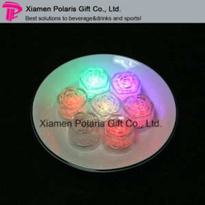 Colorful Water Actitive Rose Shape LED Glow Ice Cube pictures & photos