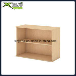 Simple Cute 2 Tier Wooden Bookcase Wide in Dark Brown pictures & photos