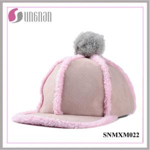 2015 Niftic Ladies Hiphop Hat Plush Fur Ball Flat-Brimmed Cap (SNMXM022) pictures & photos