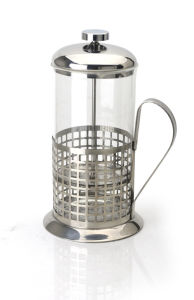 High Borosilicate Glass French Press Kettle with S. S Filter and Handle