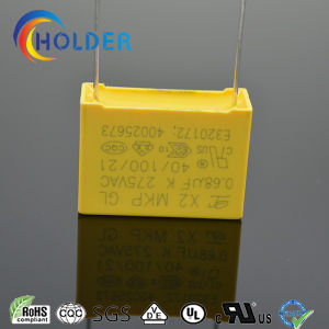 New Box Metallized Polypropylene Film Capacitor (X2 0.68UF/275V E4) pictures & photos