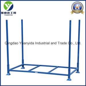 4-High Powder Coating Stackable Mobile Rack Storage Steel Pallets pictures & photos