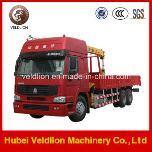 10 Ton Truck Crane/ Lorry-Mounted Crane with Telescopic Boom pictures & photos