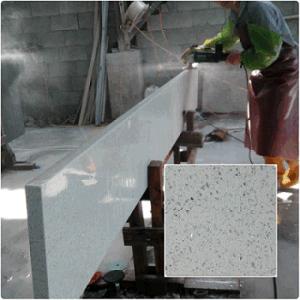 Artificial Stone Artificial Quartz Slab White Sparkle Quartz Stone Countertop pictures & photos