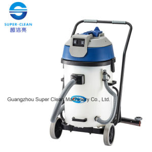 Commerial 60L Wet and Dry Vacuum Cleaner with Squeegee (plastic tank) pictures & photos