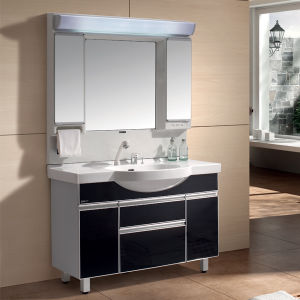 2015 New Home Classic Floor-Mounted Bathroom Vanity PVC Bathroom Cabinet Bathroom Furniture with Ceramic Basin (T120S)