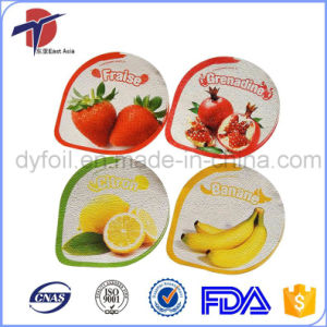 Aluminum Foil Lids for PP Plastic Yogurt Cup pictures & photos