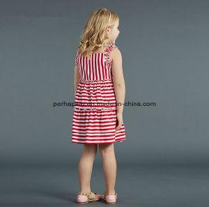 Fashion Stripe Lovely Princess Girls Dress Kids Dress pictures & photos