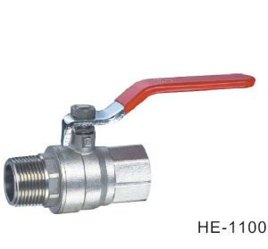 (HE1100--HE1101) Brass Ball Valve Pn40 with Level Handle for Water, Oil