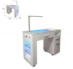 Honorable Baking Finish Manicure Table with Luminous Desktop for Nail Salon (TKN-125L) pictures & photos