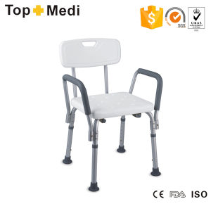 Topmedi Bathroom Safety Equipment Height-Adjustable Aluminum Bath Chair pictures & photos