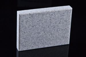Building Materials Grey Polyester Solid Surface Sheet Qh0815