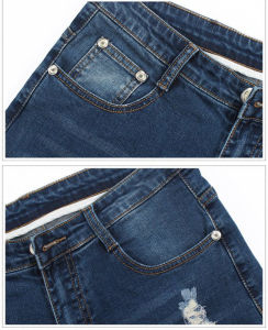 Custom Mens Fashion Holes Design Wash Skinny Jeans pictures & photos