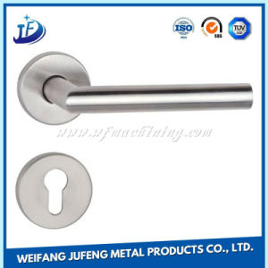 Customized Stainless Steel Wooden Door Handles with Lock by Stamping pictures & photos